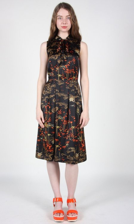 Birds of North America Killdeer Dress - Black Bamboo