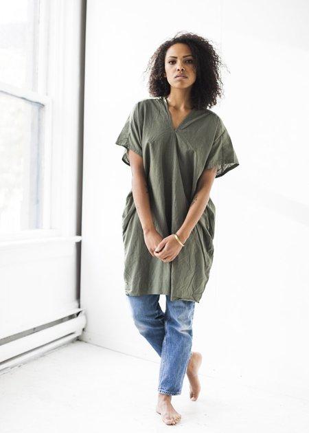 Uzi NYC V-Dress in Sage