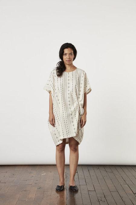 Tantuvi Knot Dress- Quartz Ikat