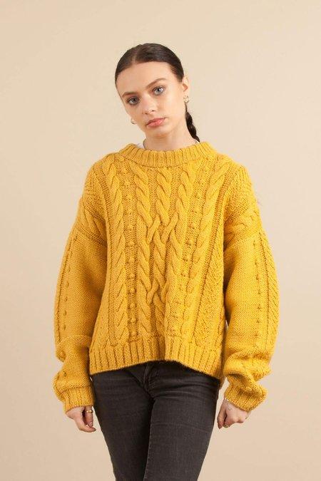 Solosix Knitwear Suzannah Sweater - Mustard