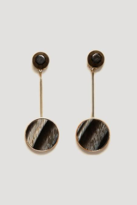 Rachel Comey Lhasa Earrings in Black/Marble