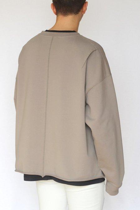 Commun des Mortels Concrete Oversized Raw-Edge Sweatshirt