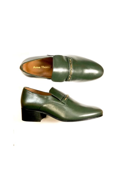 Anne Thomas Montana Loafer - Vaquette Soft Verdone
