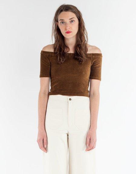 Paloma Wool Selfi Corduroy Top - Brown