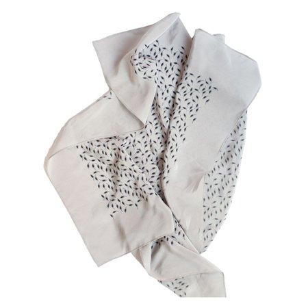 Janessa Leone Printed Silk Scarf in Grey