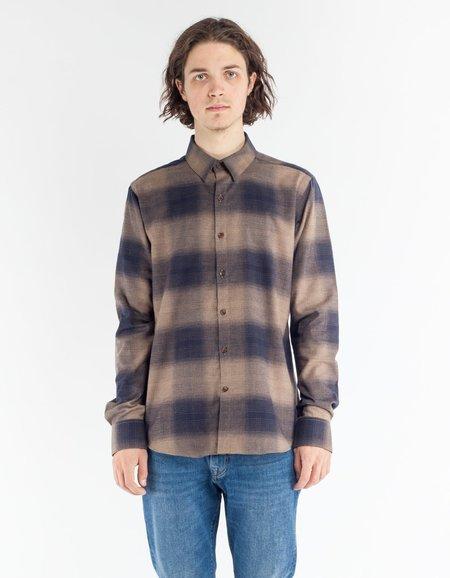 18 Waits Dylan Shirt - Large Brown Check