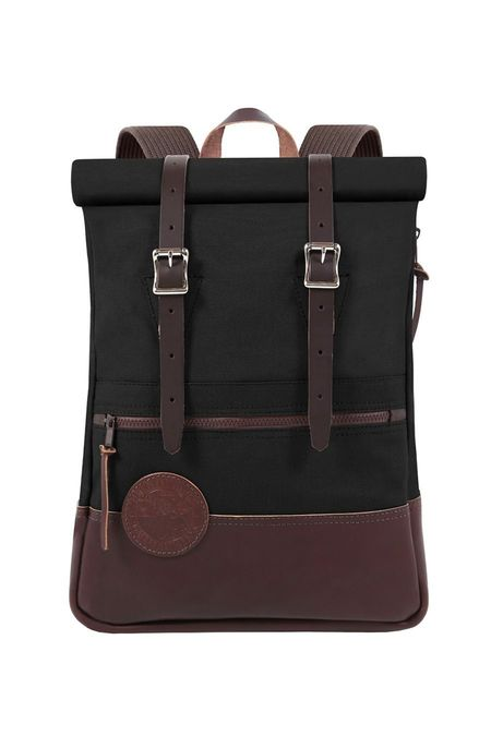 Duluth Pack Deluxe Roll Top Scout - Black