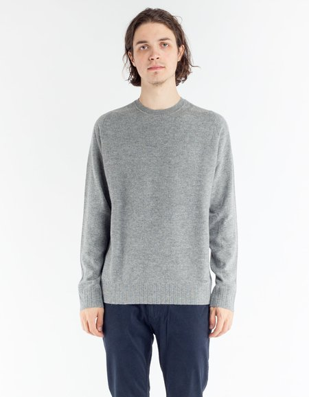 Woolrich Mix Cashmere Crew Neck - Light Grey Melange