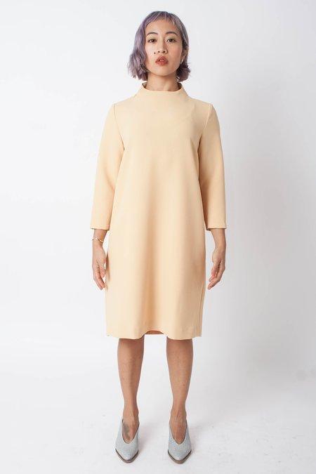Kaarem Pure 3/4 Mockneck Dress - Yellow