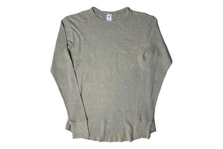 Velva Sheen Tri Thermal Crewneck - Light Grey