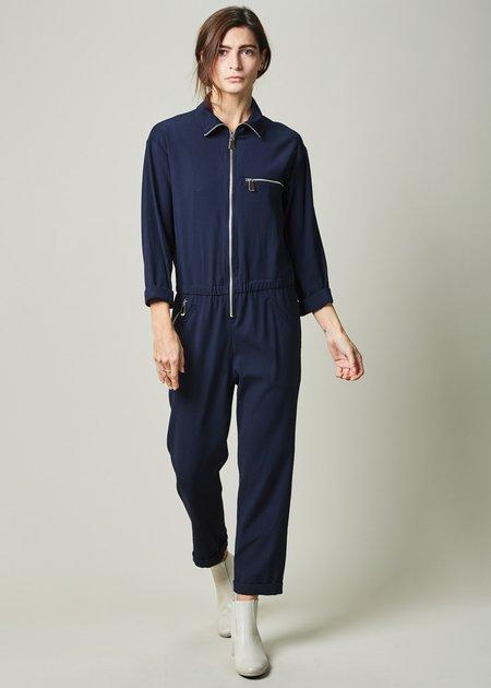 Margaux Lonnberg Allen Stand-Collar Jumpsuit