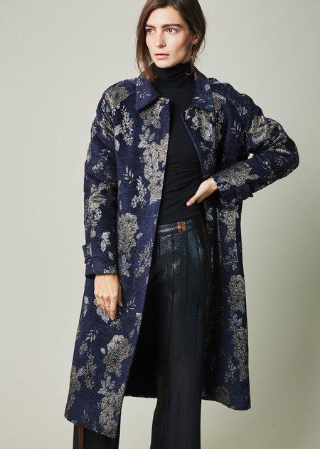Laura Urbinati Metallic Flower Overcoat