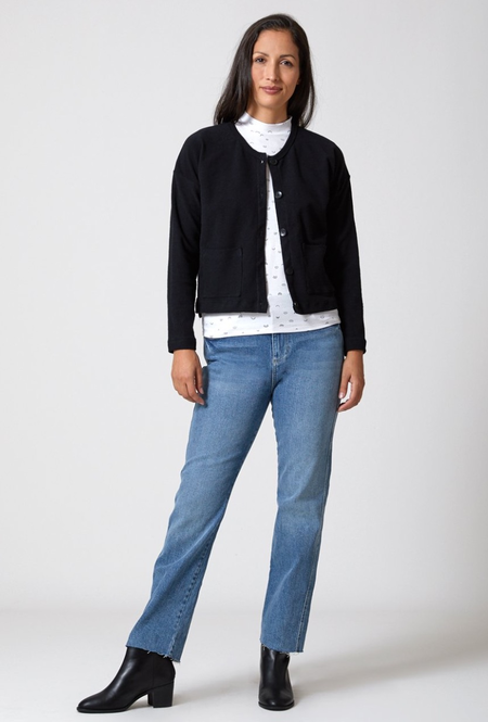 North Of West Canvas Cardigan - Black