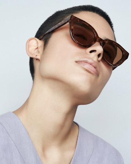 Unisex Carla Colour Barton Sunglasses - Amber + Sandstorm