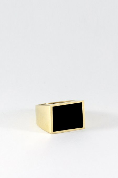 Legier Gold Lapis Signet Ring - Square