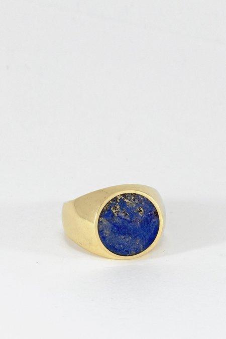 Legier Gold Lapis Signet Ring - Round