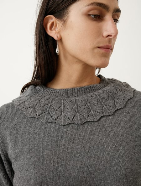 Margaret Howell Lace Collar Jumper Merino Cashmere