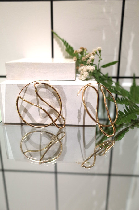 Faeber Studio Qui Hoops - Brass