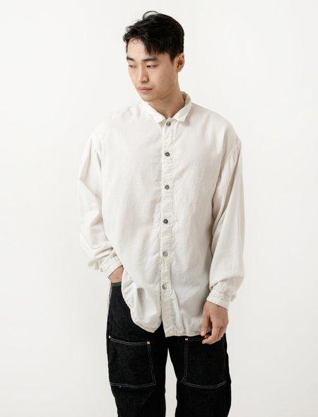 Tender Bound Hem Split Tail Shirt - Rinsed Wool-Cotton