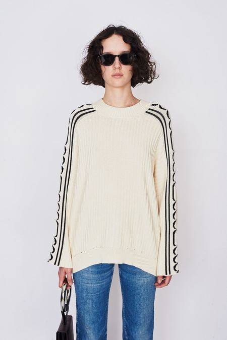 Pari Desai Cotton Chainz Jacquard Sweater