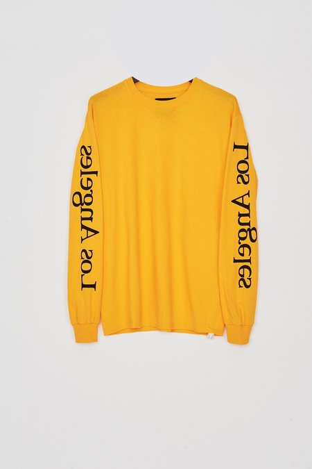 Assembly New York Cotton L/S Los Angeles Logo T-Shirt - Yellow