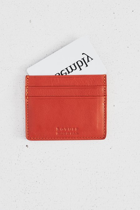Lotuff Leather Five-Pocket Credit Card Wallet - Orange