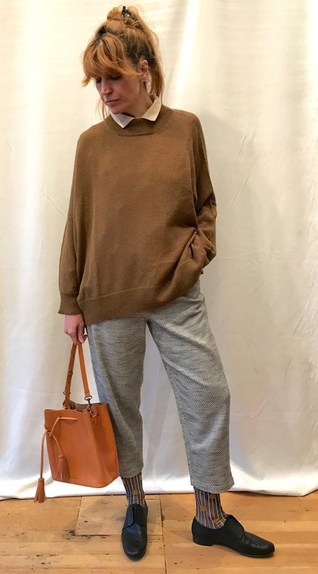 Pari Desai Inez Oversized Sweater in Ginger and Chalk
