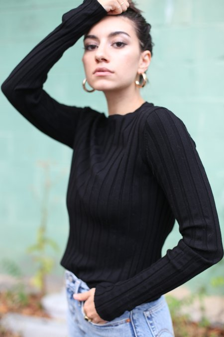 Achro Long Sleeve Ribbed Pullover