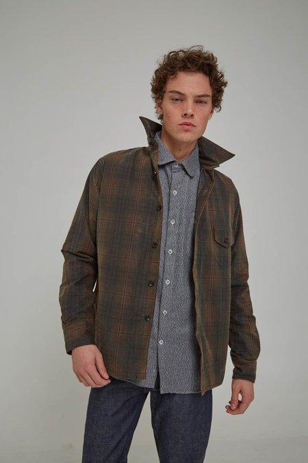 18 Waits Olive Plaid Wax Weekender Jacket