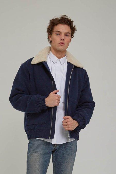Litoral Blue Mouriz Wool Bomber