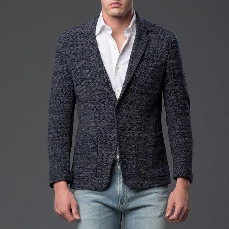 KRAMMER & STOUDT - Luxe Knit Blazer - Blue and Grey Knit