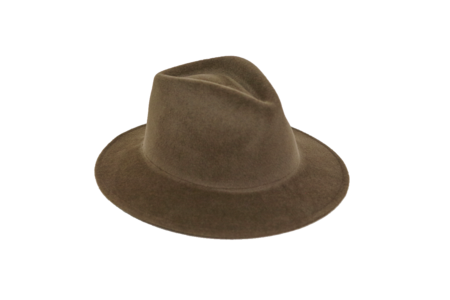 Clyde Shade Hat in Dark Mink Angora