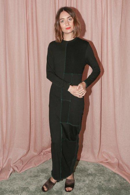 Alexa Stark Patchwork Knit Fitted Dress