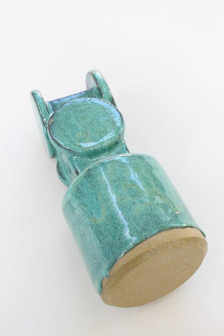 Bari Ziperstein Circle Top Vase Turquoise