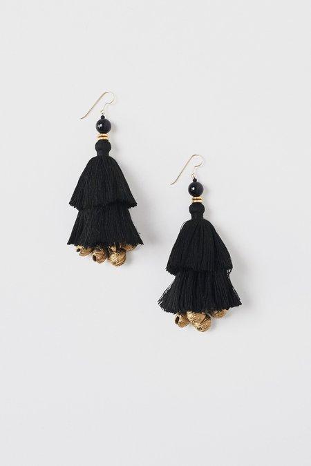 Ora-C Show Earrings - Black