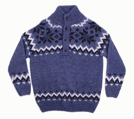 Loreak Mendian Irati Button Sweater - Blue