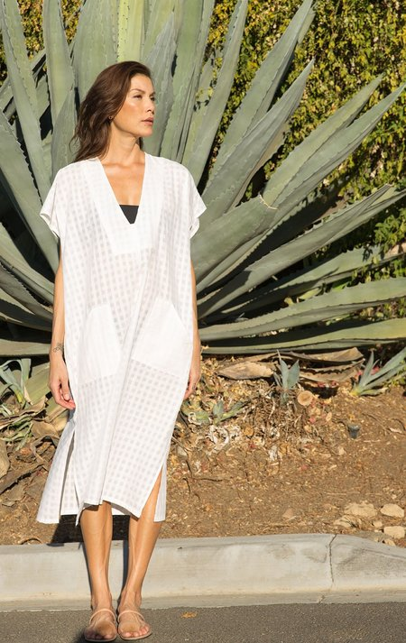 Two New York New! White Bib Grid caftan