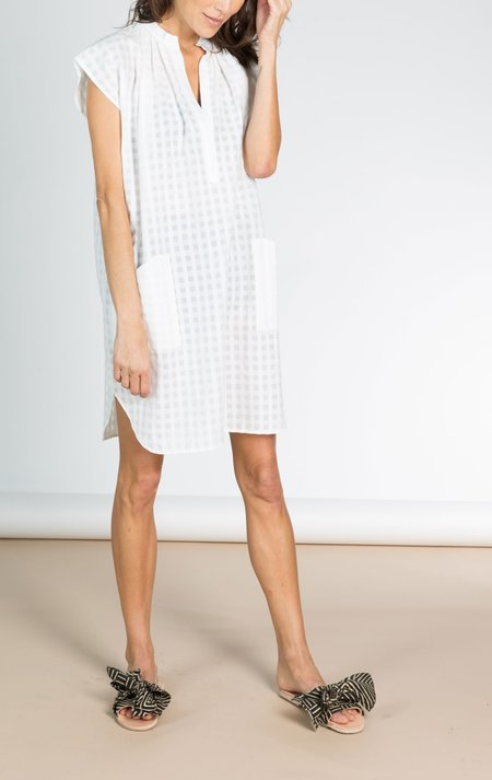 Two White Grid Tunic