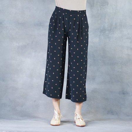 The Podolls Podolls Wide Leg Trouser in Eye See You Print