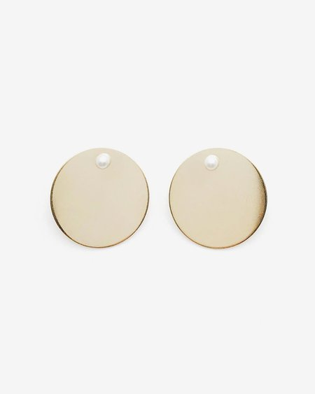 Honey & Bloom Mix Master Disc Gold + Pearl Earrings