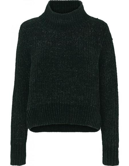 Just Female Velvet Knit - Woods Green