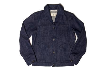 Rogue Territory Shawl Collar Supply Jacket - Indigo Knit Denim
