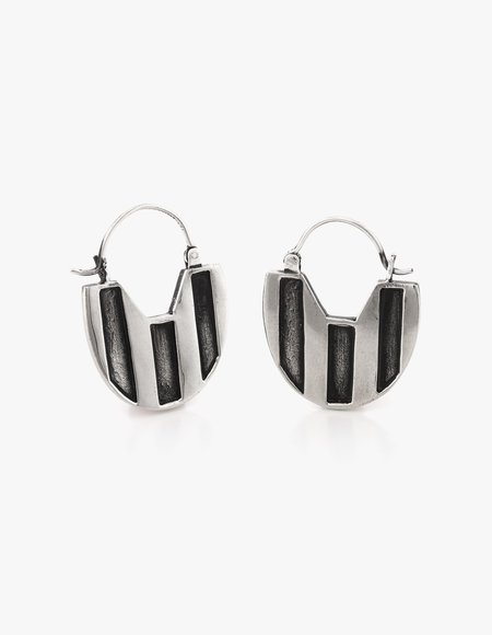 Dream Collective Deco Hoops - Silver