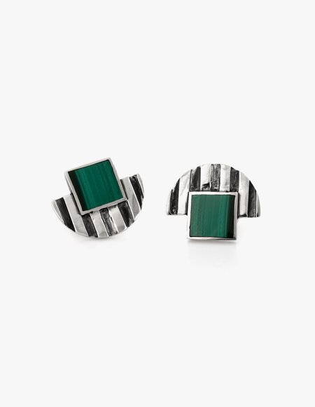 Dream Collective Deco Studs #1 in Malachite
