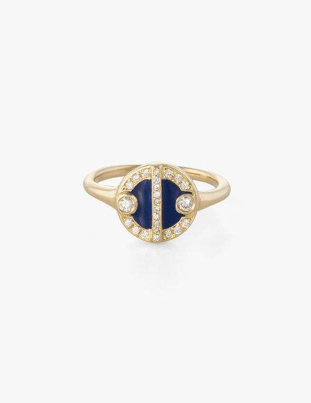 Kathryn Bentley Lorca Ring - blue