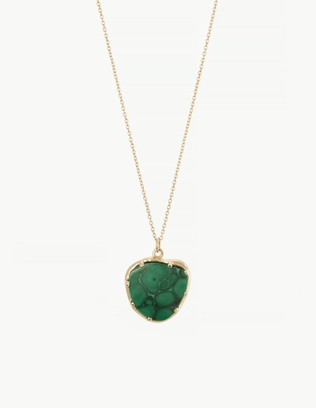 Kathryn Bentley Malachite Organic Amulet Pendant