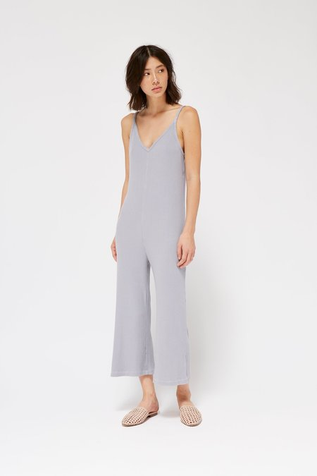 Lacausa Clothing Naomi Knit Jumpsuit - Fog