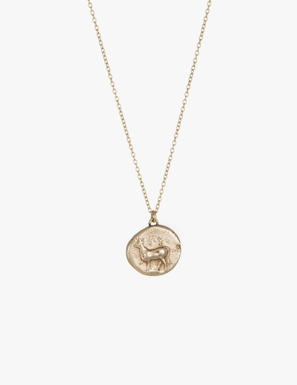 Kathryn Bentley Stag Coin Pendant