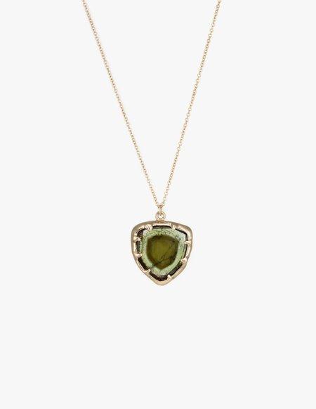 Kathryn Bentley Tourmaline Organic Amulet Pendant