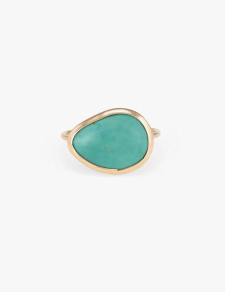 Kathryn Bentley Slice Ring - Turquoise
